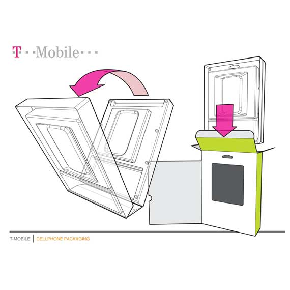 Retail packaging for T-Mobile