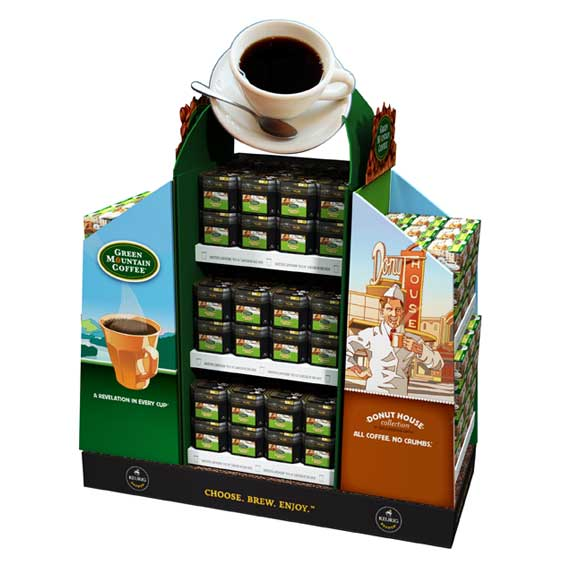 Temporary display for Green Mountain Coffee and Donut House
